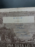 Bancnote romanesti 100lei 1940 filigran bnr