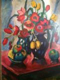 Vand tablou semnat Ziffer Sandor, Natura statica, Ulei, Impresionism