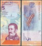 !!!  VENEZUELA  -  5  BOLIVARES  2018 -  P NEW  - UNC