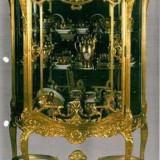 Vitrina living, aurita, stil Napoleon 3, secolul XIX
