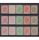 CAROL 25 ANI DE DOMNIE 1891 - SERIE MNH, Nestampilat