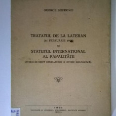 George Sofronie - Tratatul de la Lateran si statutul international al papalitatii (1931)