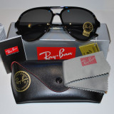 Ochelari de soare RAY BAN CATS 5000 CLASSIC 4125 BLACK, Plastic, Negru