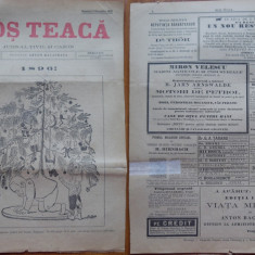 Ziarul Mos Teaca , jurnal tivil si cazon , nr. 42 , an 1 , 1895 , Bacalbasa