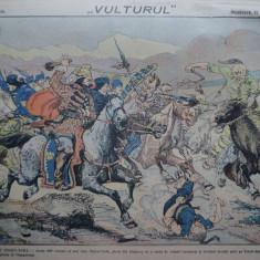 Ziarul Vulturul , nr. 56 / 1907 , cromolitografie ; Negru Voda
