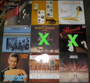 vinyl ,Scott Joplin,Zamfir,White Nights,David Collini,Tudor Gheorghe