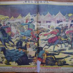 Ziarul Vulturul , nr. 22 din 1906 , cromolitografie ; Vlad Tepes si Mahomed II