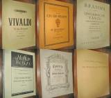 9974-6 Reviste Partituri vechi- 5 Vioara si Pian+1 Violoncel si Pian anii 20-40.
