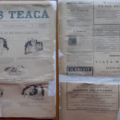 Ziarul Mos Teaca , jurnal tivil si cazon , nr. 48 , an 1 , 1895 , Bacalbasa