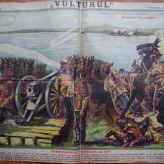 Ziarul Vulturul , nr. 23 din 1906 , cromolitografie ; Bombardarea Vidinului