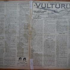 Ziarul Vulturul , nr. 96 din 1908 , cromolitografie mare ; Penes Curcanul