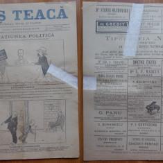 Ziarul Mos Teaca , jurnal tivil si cazon , nr. 32 , an 1 , 1895 , Bacalbasa