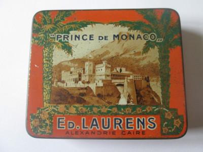 Rar! Pachet gol colectie din tabla(litho) tigari,,Prince de Monaco''din anii 30 foto