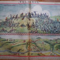 Ziarul Vulturul , nr. 31 / 1906 , cromolitografie mare ; Atacul Plevnei