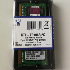Modul RAM 2GB DDR3 Laptop 1066  KTL-TP1066/2G 43R1988