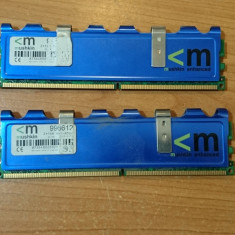 Ram Desktop Mushkin DDR2 2X1GB PC2-8500, DDR, 2 GB, 1066 mhz