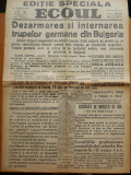 Ziarul Ecoul ,28 Aug. 1944 , Luptele din Bucuresti , Legatia germana , Killinger