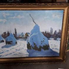 Scoala Baimareana Pictura Bortsok Samuel , tablou mare in ulei pe placaj. Peisaj, Natura statica, Abstract