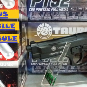 PISTOL 970g airsoft TAURUS CO2-FULL metal+6 capsule+1000bile