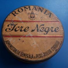 Cutie VINTAGE Icre Negre Romania REGALISTA