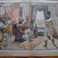 Ziarul Vulturul , nr. 13 din 1906 , cromolitografie mare ; Basarabia , 1777