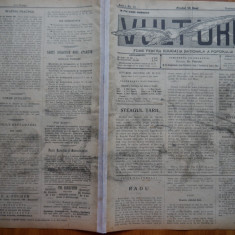 Ziarul Vulturul , nr. 41 / 1906 , cromolitografie ; Stefan cel Mare si Steagul