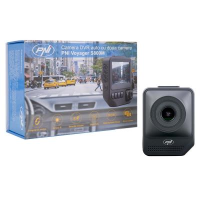 "Resigilat : DVR auto PNI Voyager S800M Full HD 1080p Dual Camera Display 2.3"" foto"