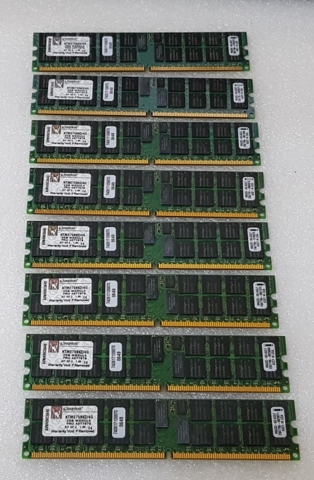 Memorie Kingston 2GB ECC PC2-5300 DDR2 667MHz DIMM Registered - poze reale