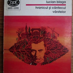 Hronicul si cantecul varstelor  / Lucian Blaga BPT 1438