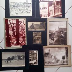 Lot fotografii de presa vechi  decupaje ziar Germania poze vintage