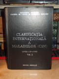 CLASIFICATIA INTERNATIONALA A MALADIILOR ( CIM ) , VOL. 1 , 1993