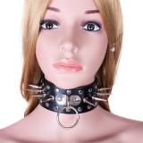 Lesa Zgarda Bondage Slave Fetish BDSM Cu Tepi Spikes Piele PU