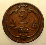 1.011 AUSTRIA 2 HELLER 1912, Europa, Bronz