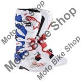 MBS Cizme MX Alpinestars TECH7 New, alb/albastru/rosu, 12=46-47, Cod Produs: 201201427312AU