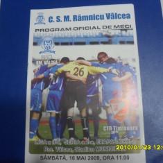 program          CSM  RM. Valcea   -  CFR  timisoara