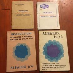 Lot 4 bucati brosuri / brosura Instructiuni  masina de spalat rufe Albalux !