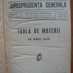 JURISPRUDENTA GENERALA - ANUL VII - 1929