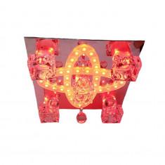Lustra rich 2113/400, multicolora, telecomanda 5*e27 dulie ceramica, leduri multicolore