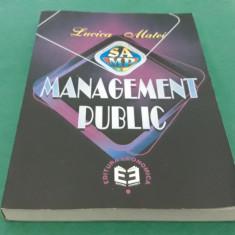 MANAGEMENT PUBLIC* LUCICA MATEI/2001