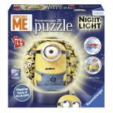 Puzzle 3D luminos-Minioni(72 piese), Ravensburger