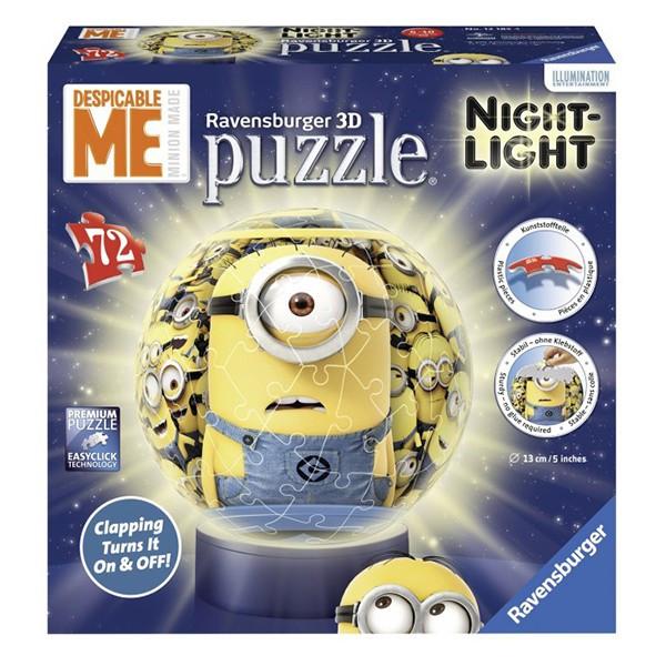 Puzzle 3D luminos-Minioni(72 piese)