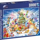 """Puzzle """"Craciun in familia Disney""""(1000 piese), 2D (plan), Ravensburger"""