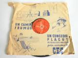 Disc vechi ebonita Dunarea Albastra - cu reclama CEC, anii - '50 - '60, Alte tipuri suport muzica