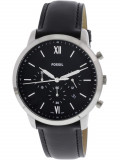 Ceas barbatesc Fossil Neutra FS5452 argintiu Leather Japanese Chronograph FS5452