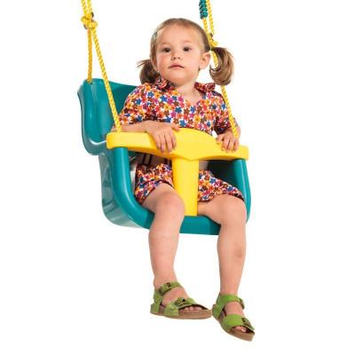 Leagan pentru copii Luxe PP, 49.1 x 36 x 39 cm, Galben/Turcoaz foto