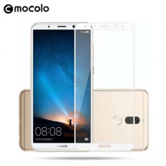 Geam Protectie Display Huawei Mate 10 Lite Acoperire Completa Alb