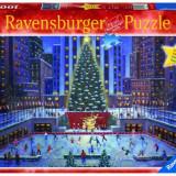 """Puzzle """"Craciun la New York""""(1000 piese), 2D (plan), Ravensburger"""