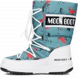 Bocanci Copii Moon Boot 34052000001, 27 - 29, 32, 33, Turcoaz