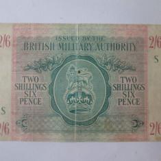 Rara! Ocupatia Britanica WW II in Italia:2 Shillings 6 Pence 1943