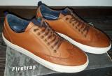Trainers / Pantofi Firetrap Bobo PIELE 100% originali, eticheta producator, 41, Maro, Piele naturala